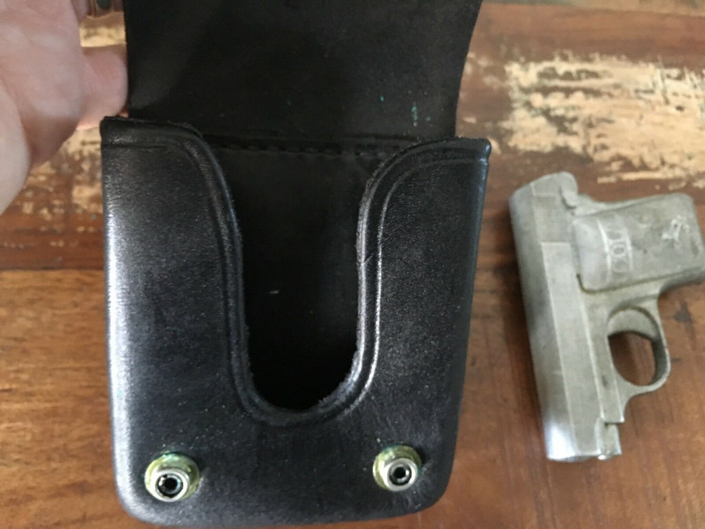 Tex Shoemaker Black Leather OWB Concealment Holster 60X SP For Colt 1908 Auto