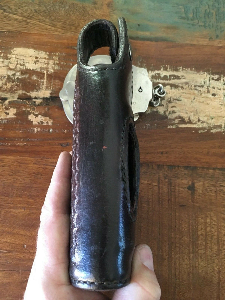 Vintage Tex Shoemaker Basketweave Leather Lined OWB Holster For Sig P226