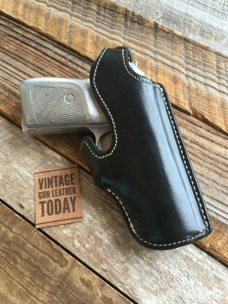 Alfonso's Plain Black Suede Leather Lined Holster For Sig P230 84 Strong Cross