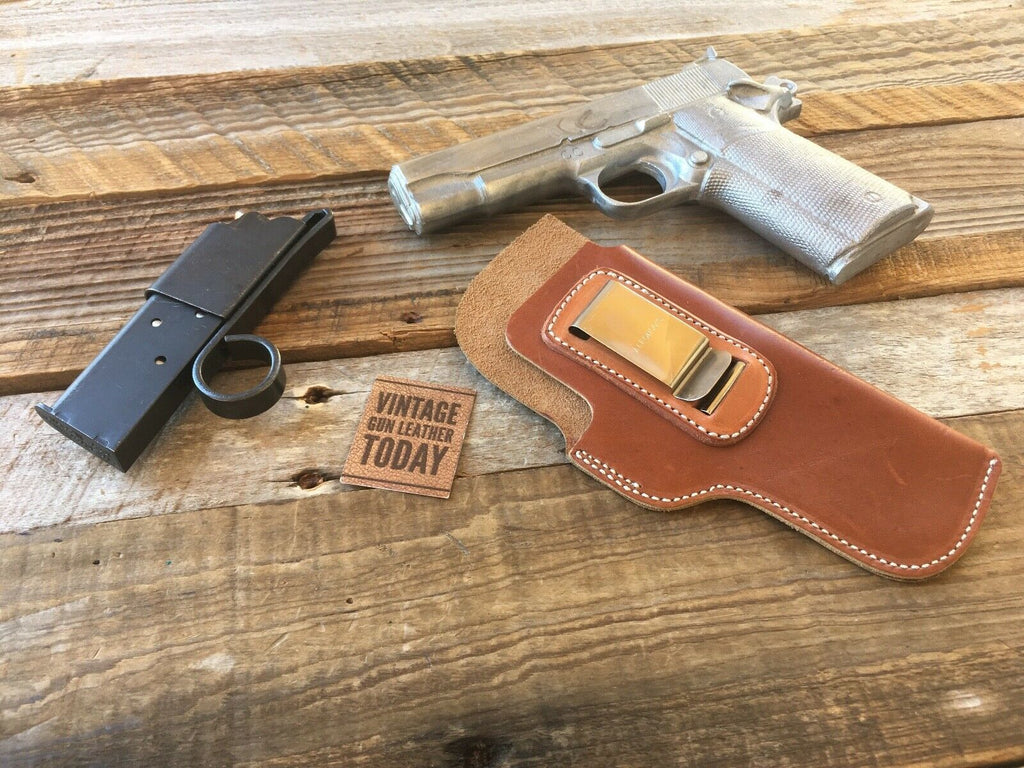 Alfonsos Brown Leather IWB Small of back Holster for Colt 1911 Commander