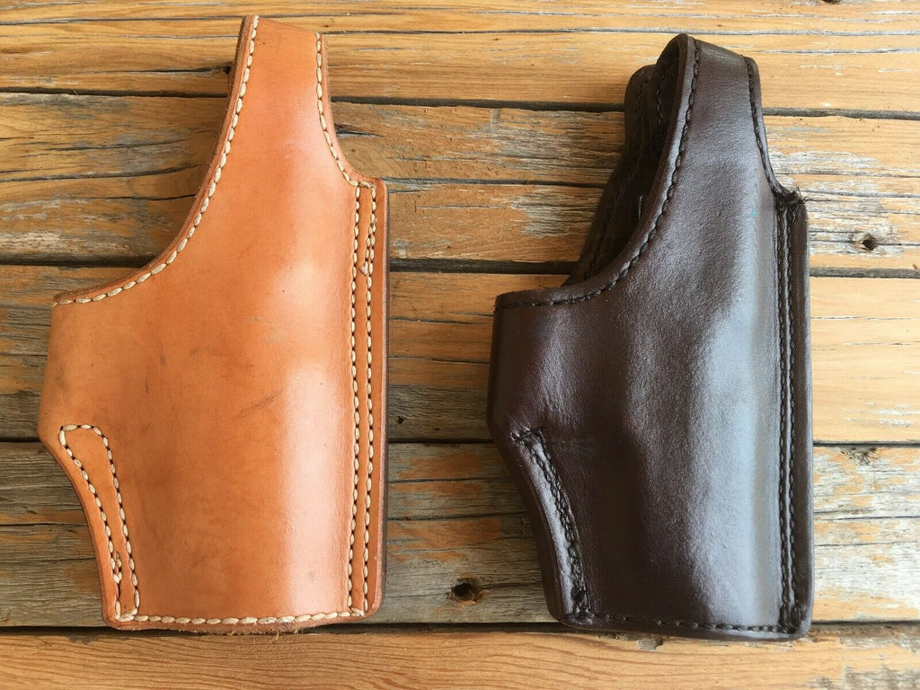 Vintage Tex Shoemaker Brown Leather Lined Holster For Sig P228 High Ride OWB