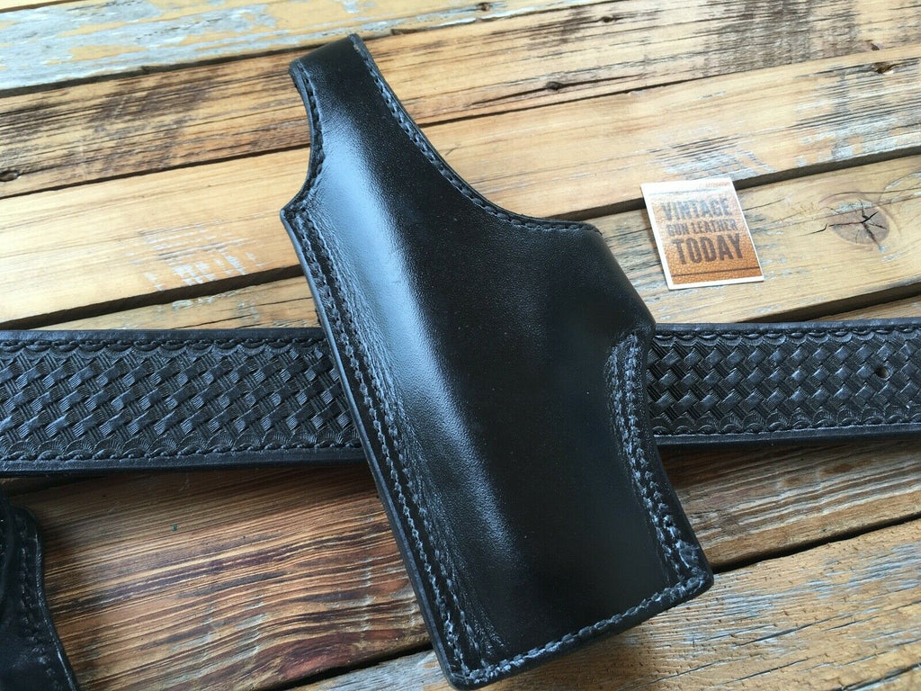 Tex Shoemaker Black Leather Lined OWB Holster For Glock 21 Left