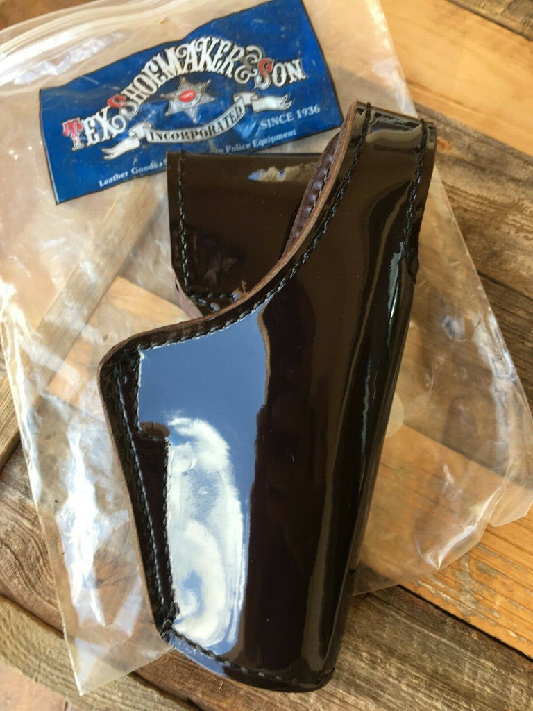 Tex Shoemaker Black Cherry Brown Clarino Gloss Leather Duty Holster For Glock 21