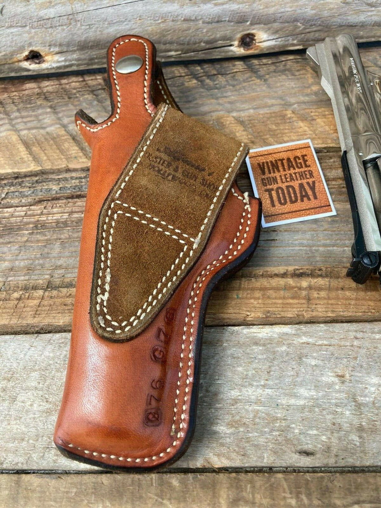 "Alfonsos Brown Basketweave Lined Holster for S&W K Frame 4"" Medium Revolver LEFT"