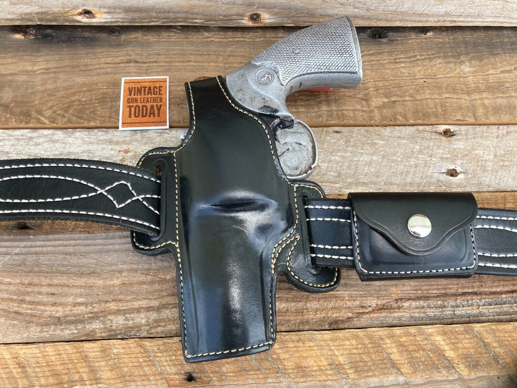 Alfonso's F60 Black Leather Lined Holster For Python S&W L Frame 4 Revolver LEFT