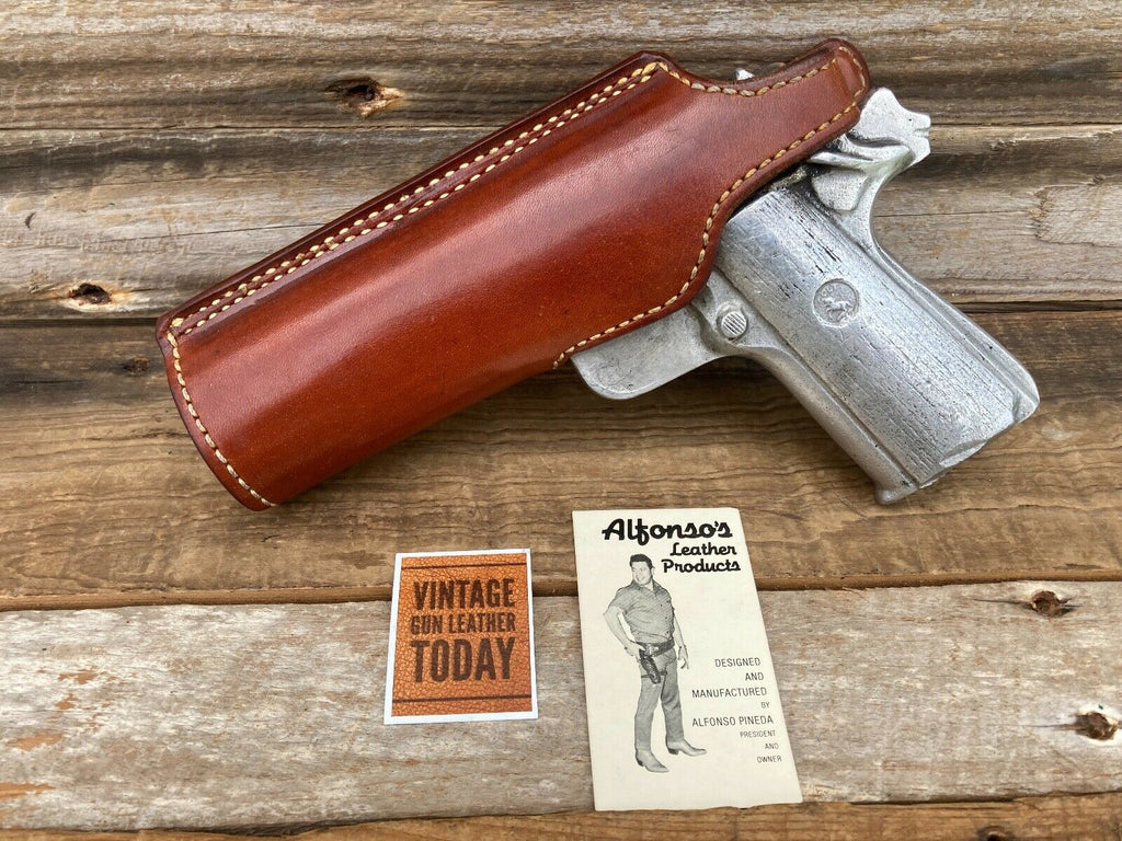 Vintage Alfonso's Brown Leather / Suede Lined Holster For 1911 Colt Government