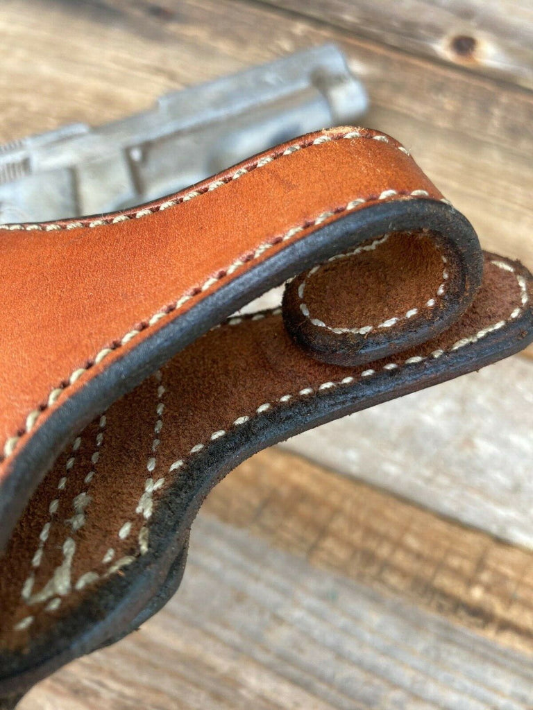 Alfonso's Brown Leather Suede Lined Strong / Cross Draw Holster for S&W Model 59