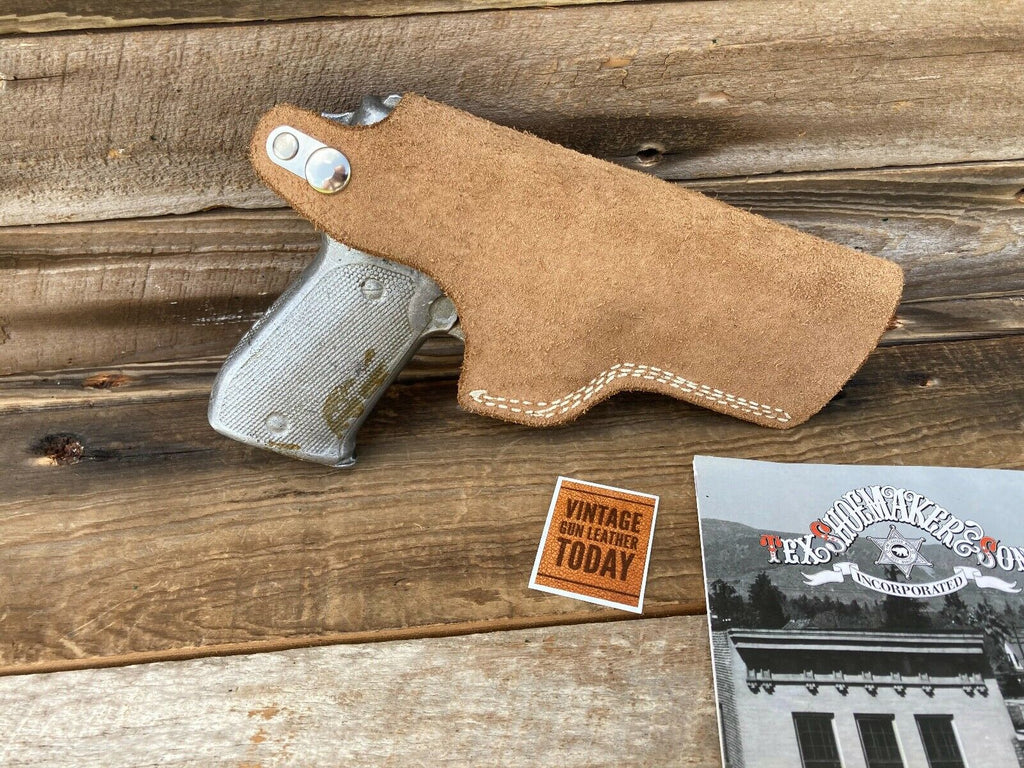 Vintage Tex Shoemaker Suede Leather IWB Holster For Sig Sauer P220 220