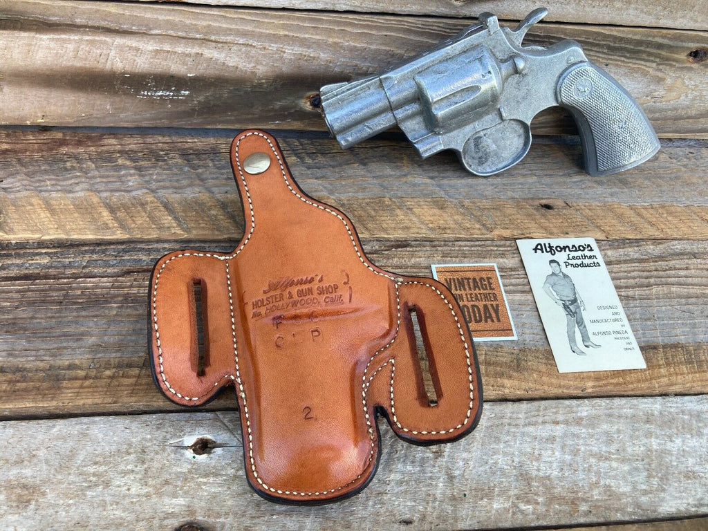 Alfonso's Brown Basketweave F60 Lined Holster For Colt Python / L Frame 2.5""