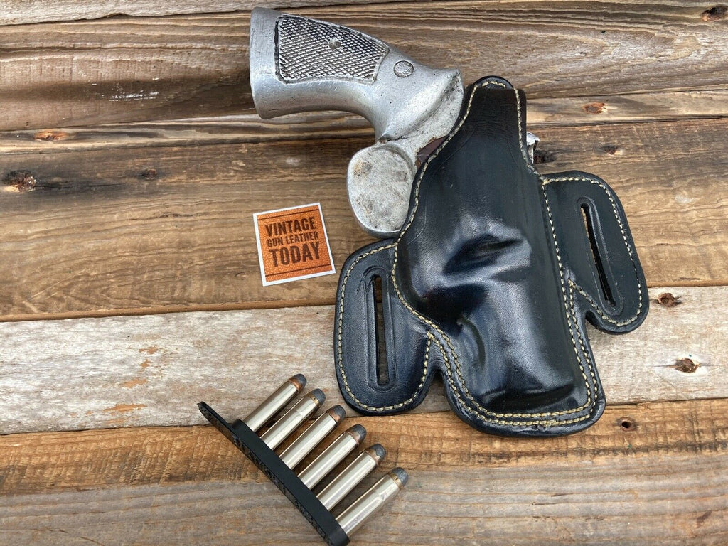 Alfonso's Plain Black Leather Lined Holster for S&W K Frame 2 1/2 Revolver