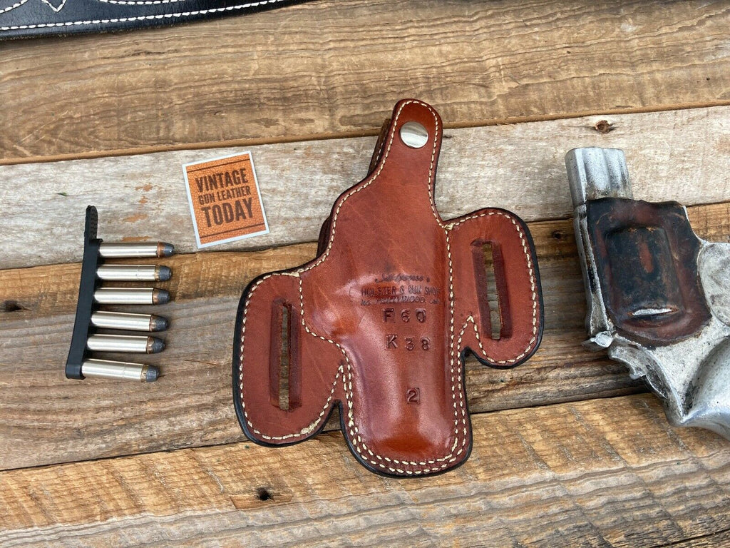 Alfonso's Plain Brown Leather Suede Lined Holster for S&W K Frame 2 1/2 Revolver