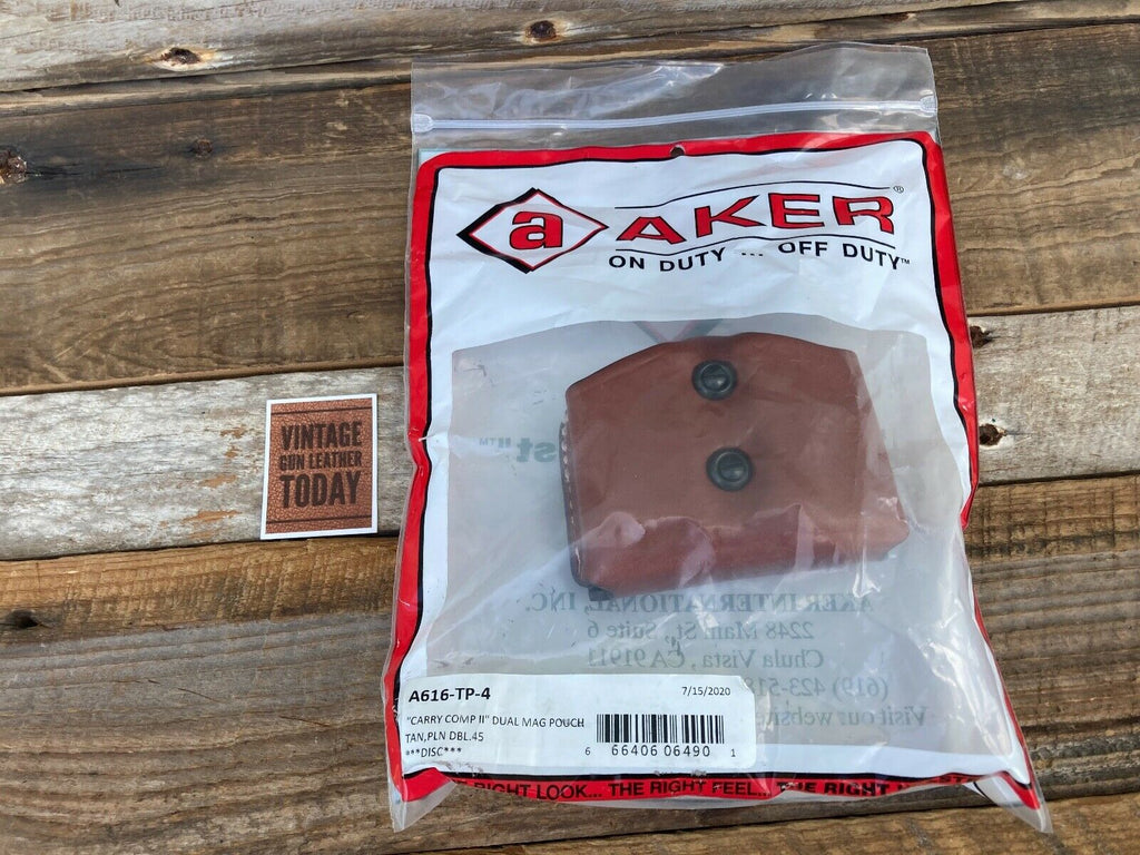 Aker Discontinued Comp II Double Magazine Pouch .45 Doublestack Magazine