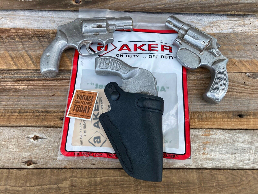 AKER Discontinued Black Leather IWB Spring Special Holster For S&W 649 640 49 36