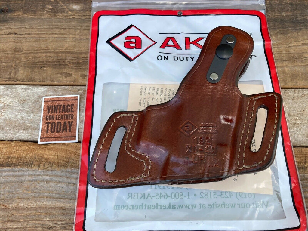 Discontinued AKER Plain BROWN Leather Left Holster For Springfield XD 40