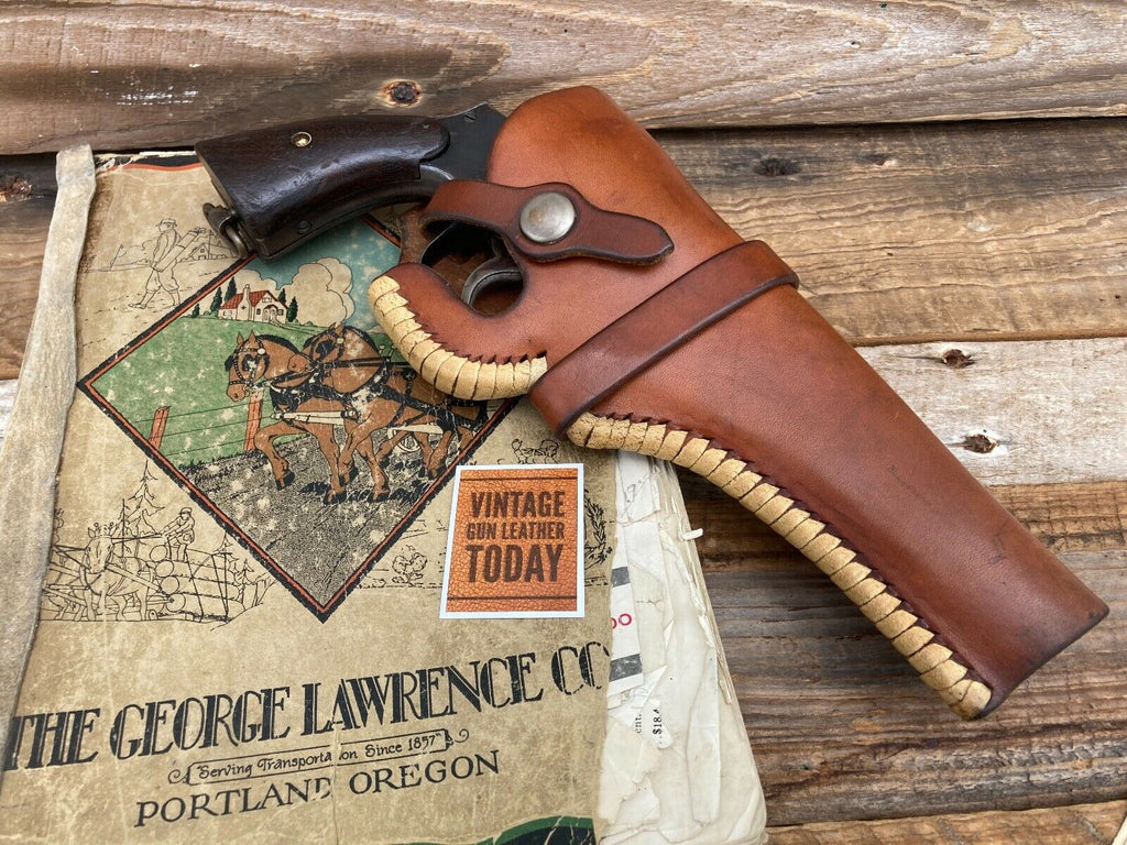 "Vintage George Lawrence Pre War 1941 Laced Holster For S&W 6"" K Medium Revolver"