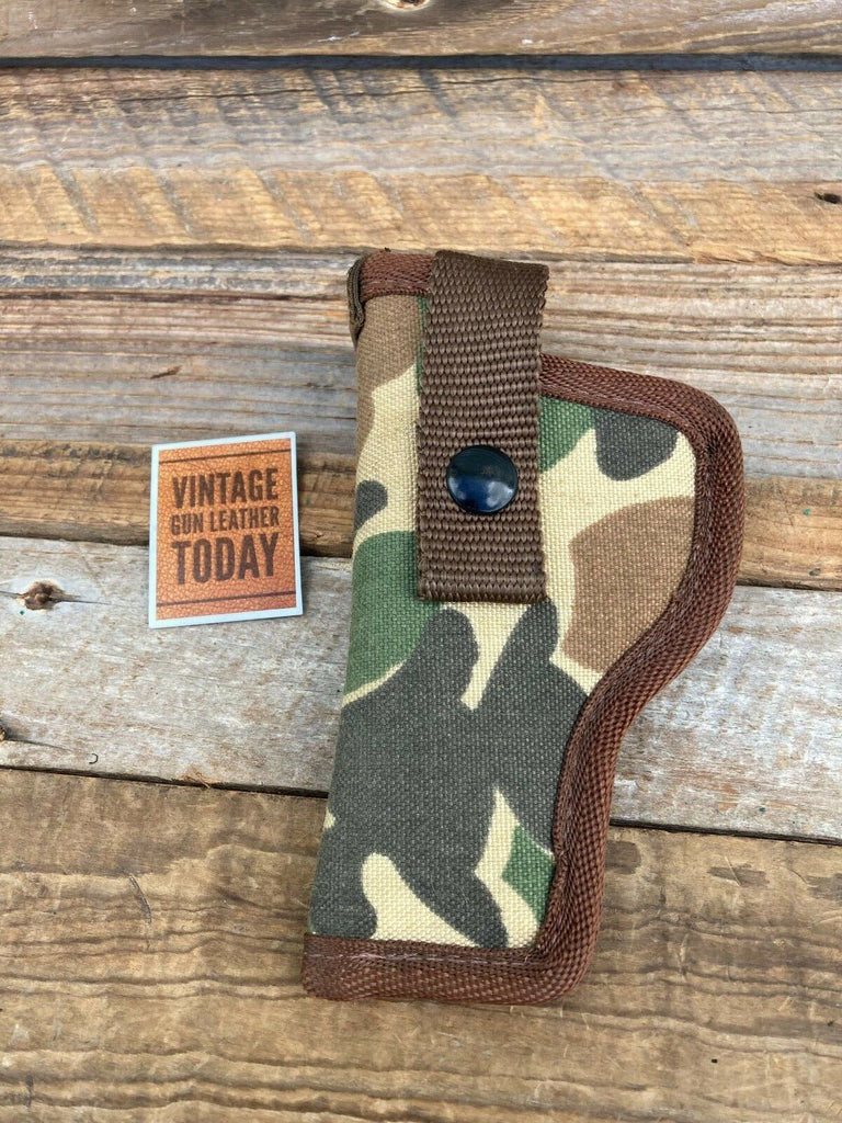 "Vintage Uncle Mikes Duck Camouflage Nylon Holster For 3"" or 4"" Medium Auto"