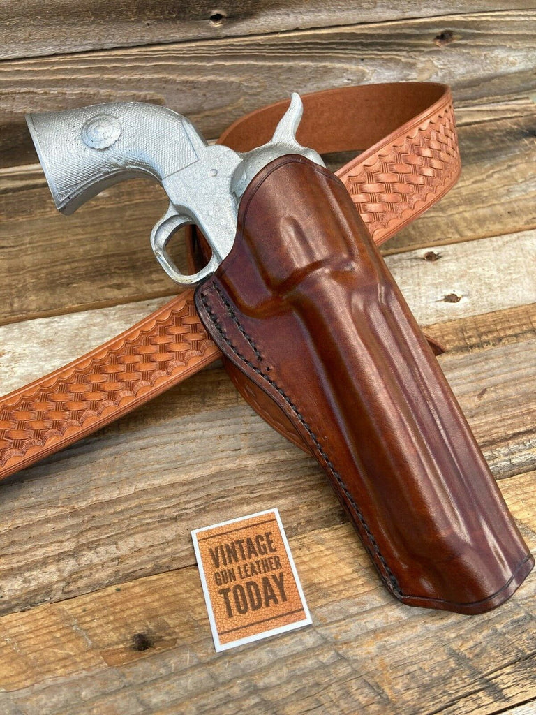Red Nichols Berns Martin Western Horsehide Holster SA Revolver 5 1/2 Brown