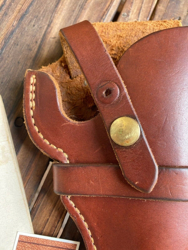 Vintage George Lawrence Brown Leather 1C 545 Holster For S&W Mod. 10 H&R 939 6""