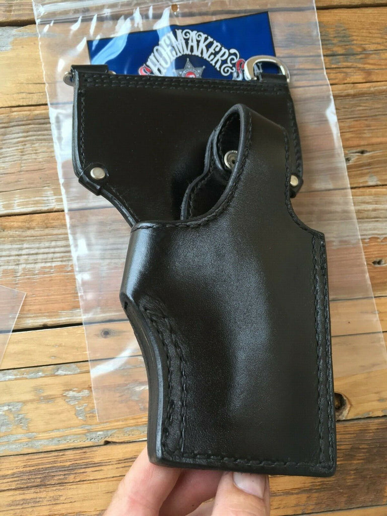 Tex Shoemaker Black Leather Duty Holster w/ Sam Brown D Rings For S&W 4006