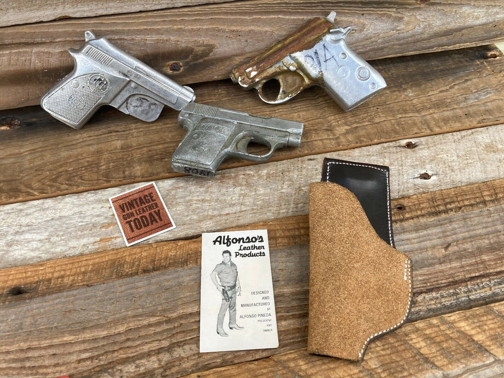 Alfonsos Leather IWB Holster for Small .22 .25 Auto Colt Pocket Beretta 21A 950