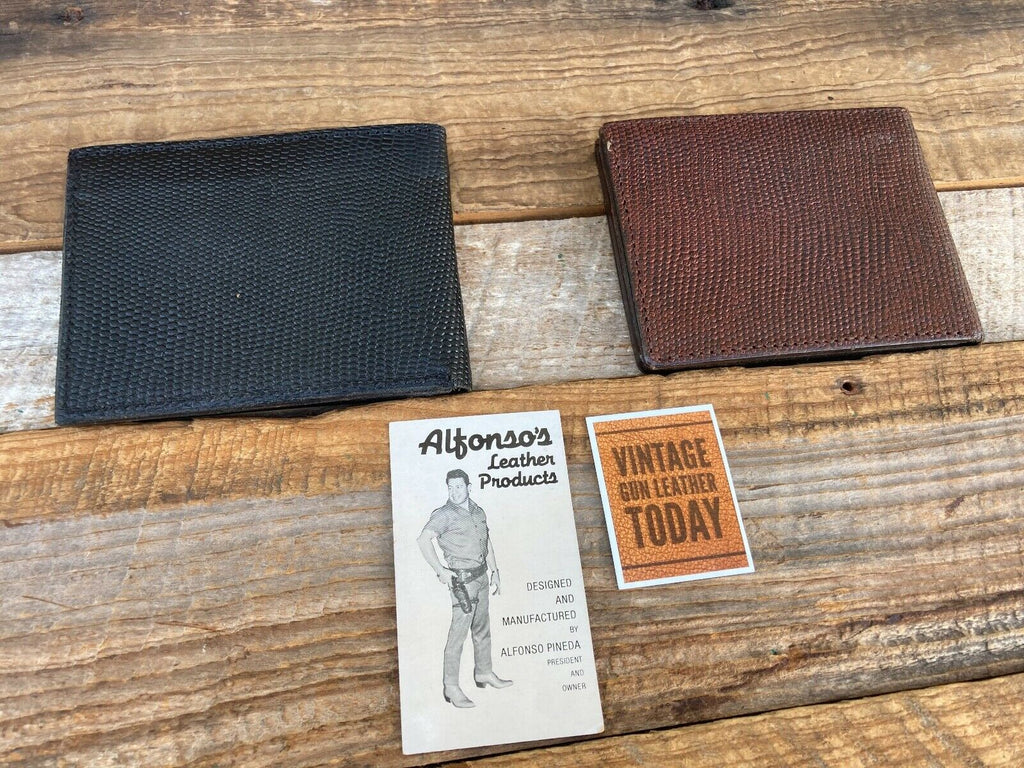 "Alfonso's Police Fire Leather Badge ID Wallet With 3"" x 2"" Cutout and Cash Back"