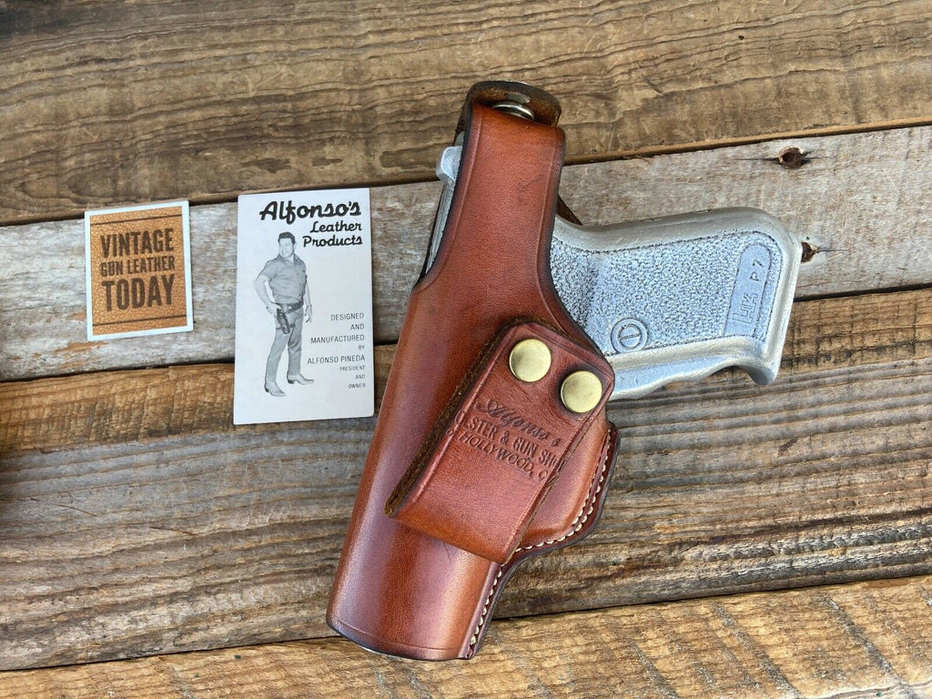 Vintage Alfonsos Brown Leather IWB / OWB Holster For HK P7 PSP H&K LEFT