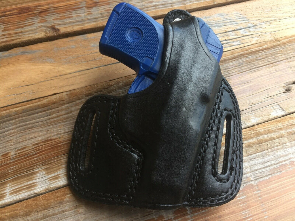 Tex Shoemaker Black Leather PC Hugger OWB Holster For Ruger LCP