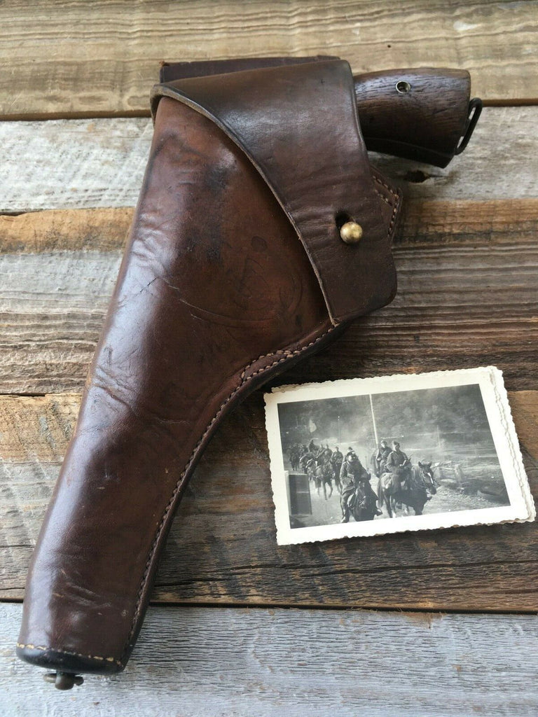 NICE WW1 Orignal Holster For S&W 1917 US G&K 1917 A.G. Military Flap Holster