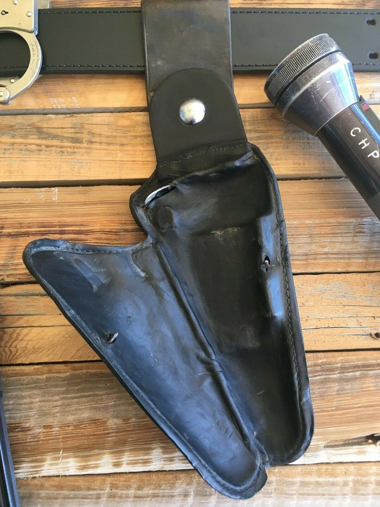 "Vintage STANROY MFG Leather Clamshell Holster for S&W K-Frame 6"" Revolver Adam"