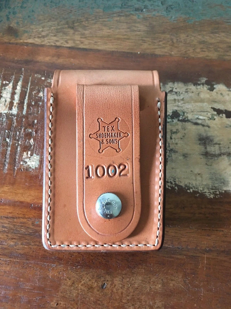 Tex Shoemaker 1002 Natural Brown Leather Police Holder For Patrol Window Control