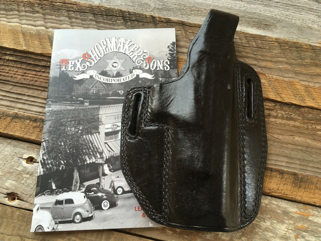 Sweet Tex Shoemaker PC OWB Plain Black Leather Holster For Springfield XD 45 5""