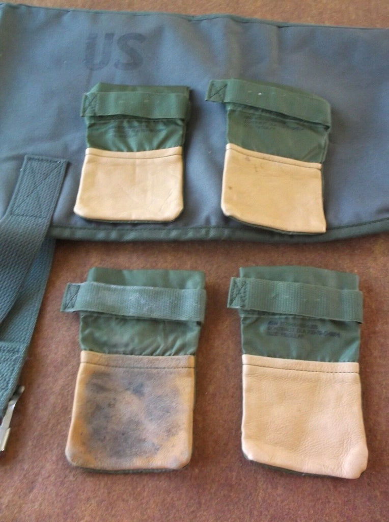 Vintage OD Green US Military K9 / Dog Leather Nylon Boots NSN 3770-00-162-6205