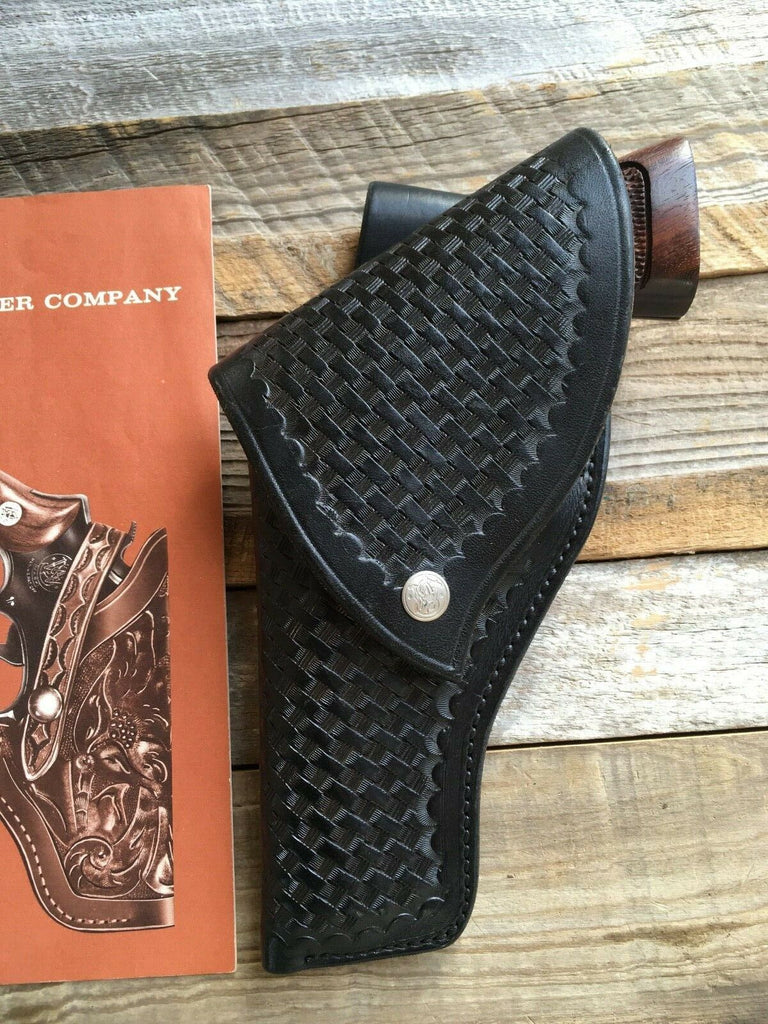 Vintage S&W Smith & Wesson Leather Flap Holster For Python Trooper 4 Revolver