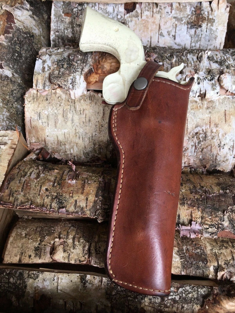 Vintage Smith 22 06 Brown Leather Holster For Colt Ruger Revolver
