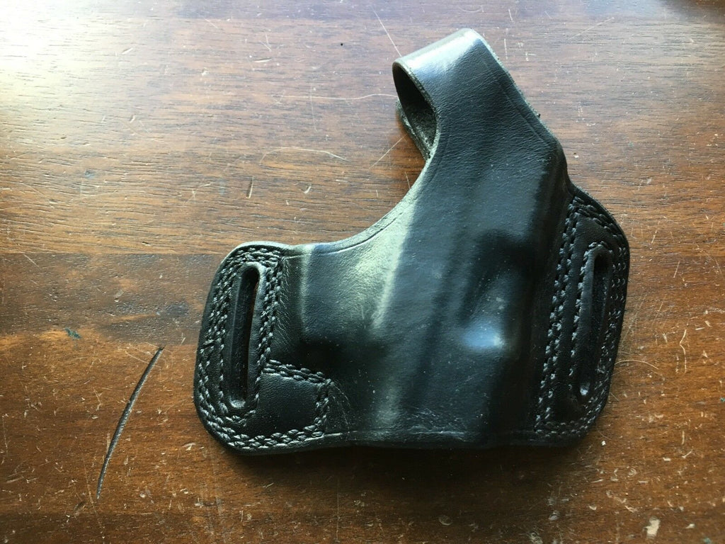 Tex Shoemaker N14TB Black Leather OWB Holster For Taurus PT232