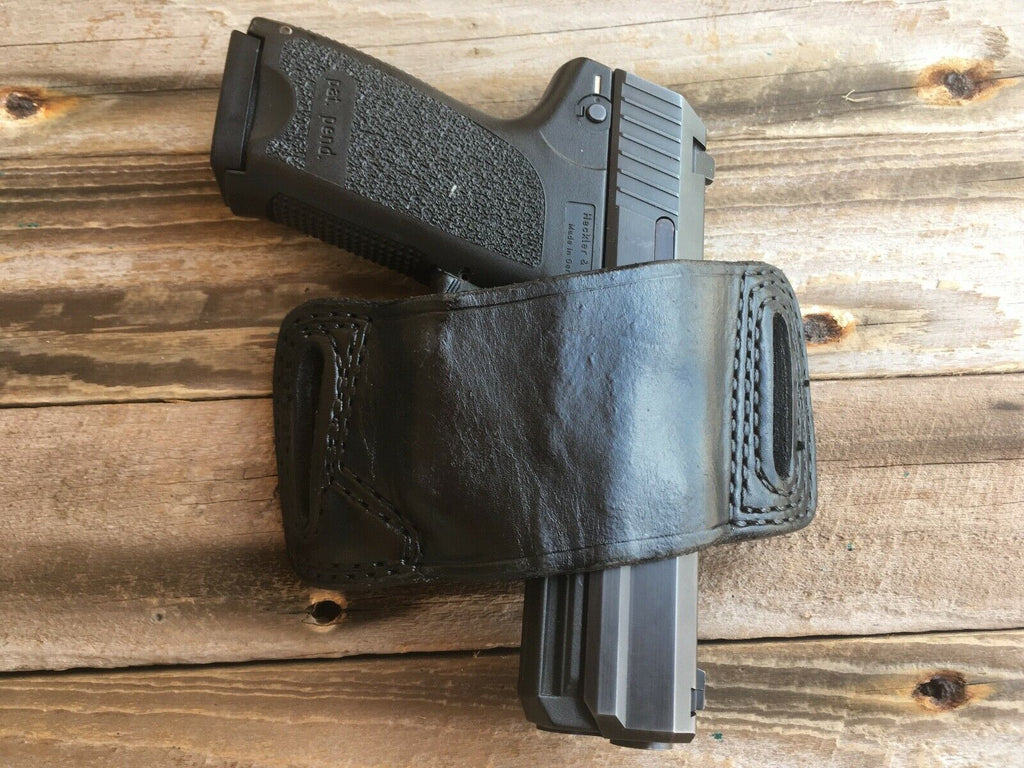 Tex Shoemaker N14 63 Black Leather OWB Holster For USP USP Compact 9 40 .357 Sig