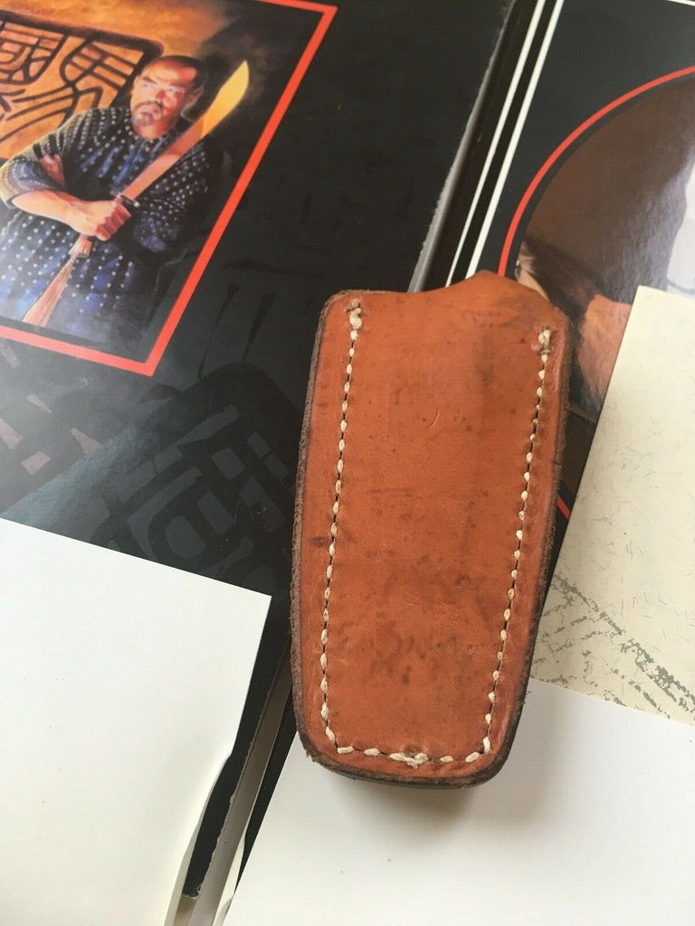 Vintage Al Mar 1979 1980s Brown Leather Knife Sheath For Fang 5001 Boot Sheath