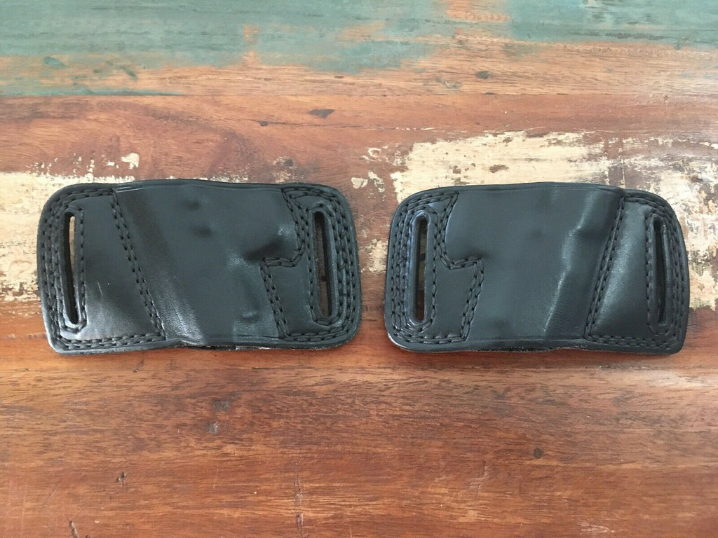 Vintage Tex Shoemaker N14 Black Leather OWB Holster For Llama Right / Left