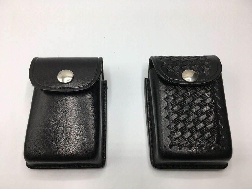 Tex Shoemaker Police EMS EMT Duty Black Leather Cigarette Glove Accessory Pouch
