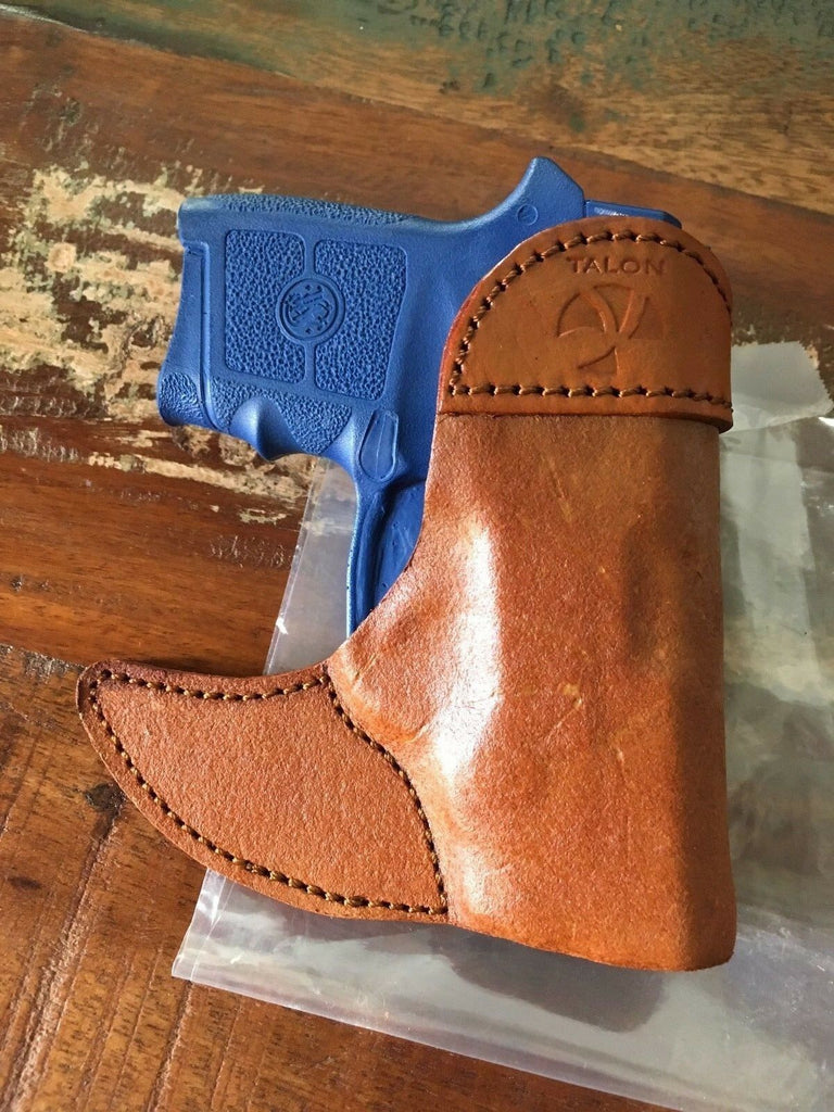 Talon Brown Leather Pocket Holster For Smith & Wesson Bodyguard w/ Insight Laser