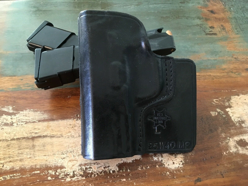 Tex Shoemaker Black Leather Pocket Holster For S&W M&P 40 Compact