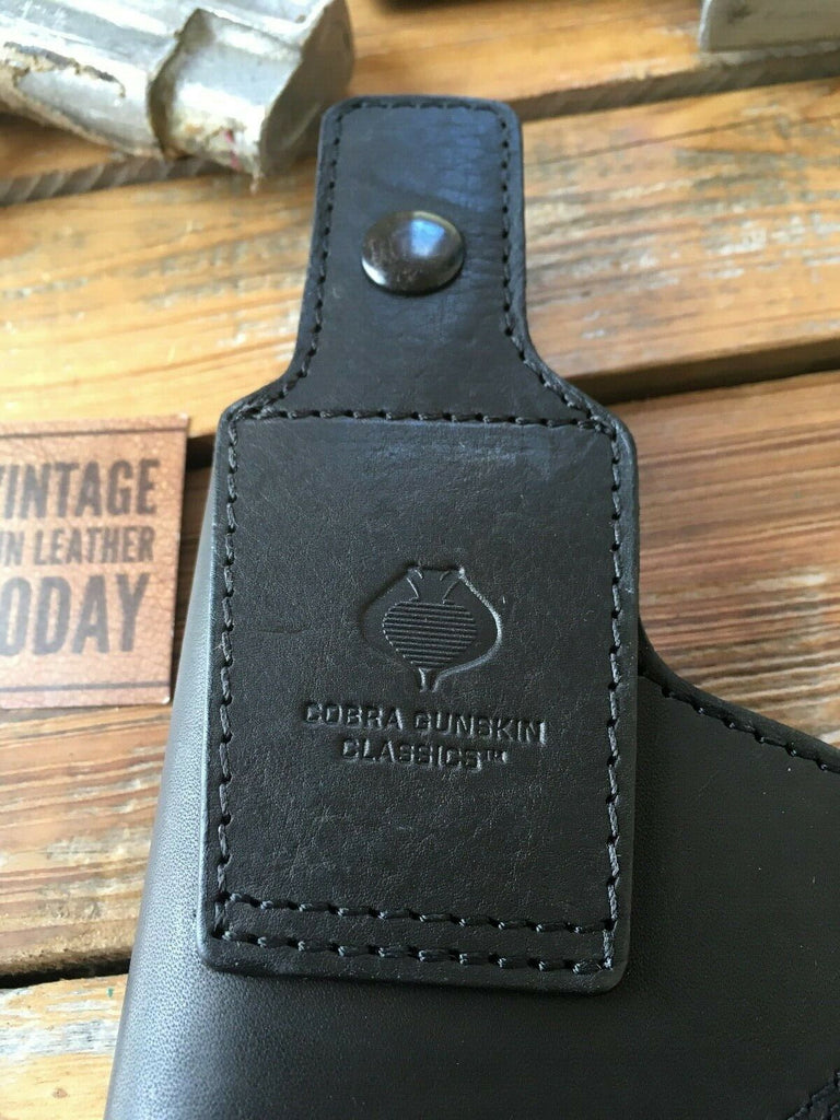 Cobra Black Leather Lined OWB IWB Holster For GLOCK 17, 22, 31,  Sig P226 M&P