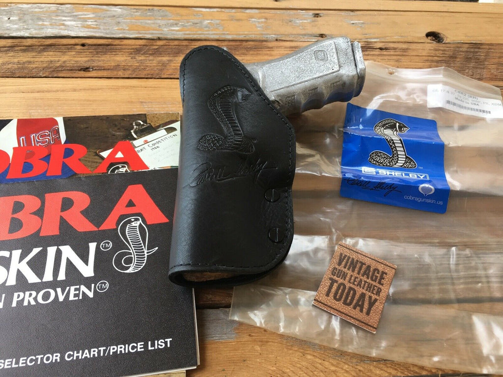 Cobra Gunskin Leather Suede Lined Cobra IWB Holster For GLOCK 17 37 M&P PX XDM