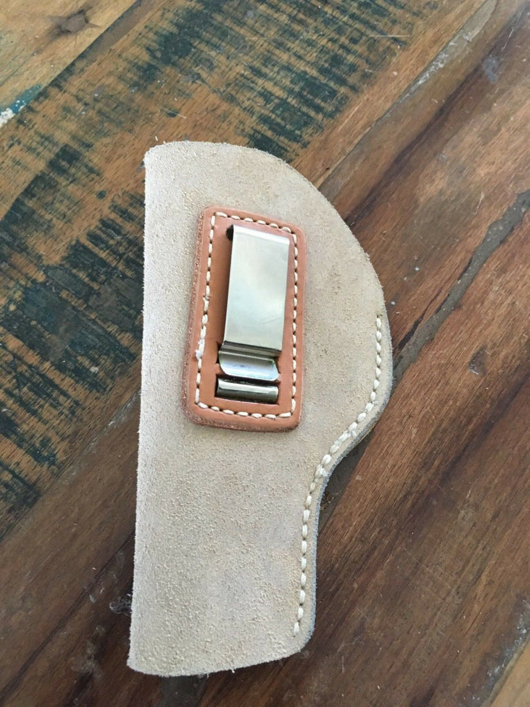 Vintage Tex Shoemaker Suede Leather IWB Holster For S&W Mod. 39 / 59 LEFT