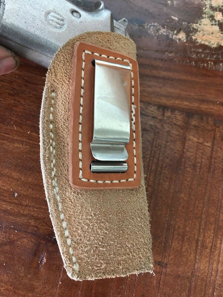 Vintage Tex Shoemaker Suede Leather IWB Holster For Beretta 21 Jet Fire 4""