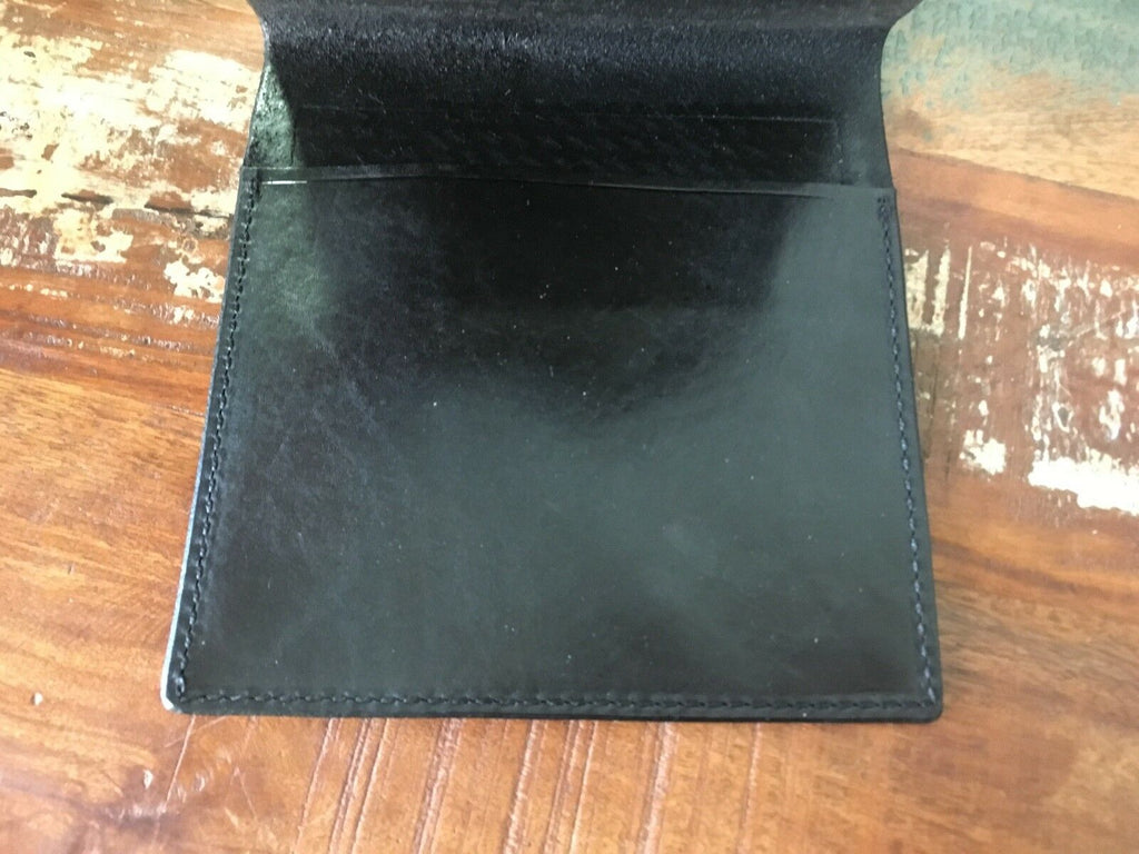 Tex Shoemaker Black Basketweave Leather Police Notebook Cover Holder 8 x 8 1/4""