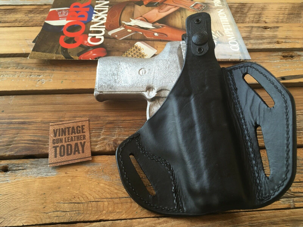 Vintage Cobra Black Leather 3 Slot OWB Holster For Sig P239 LEFT