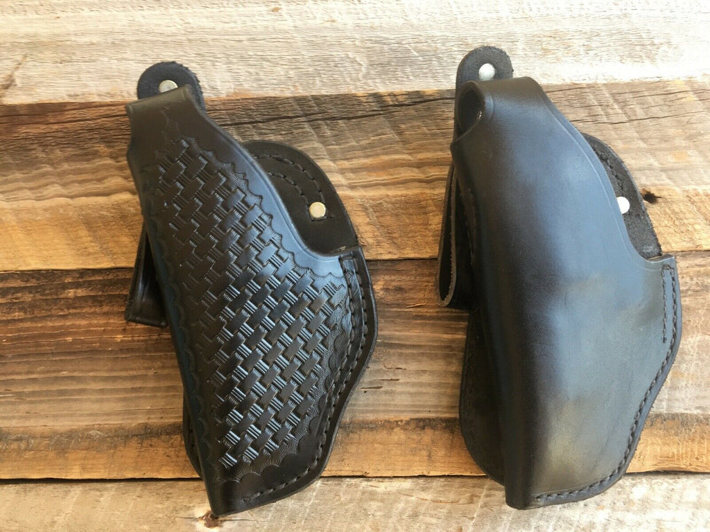 "Vintage Tex Shoemaker 11PL Leather Paddle Holster For 3"" Medium S&W Revolver"