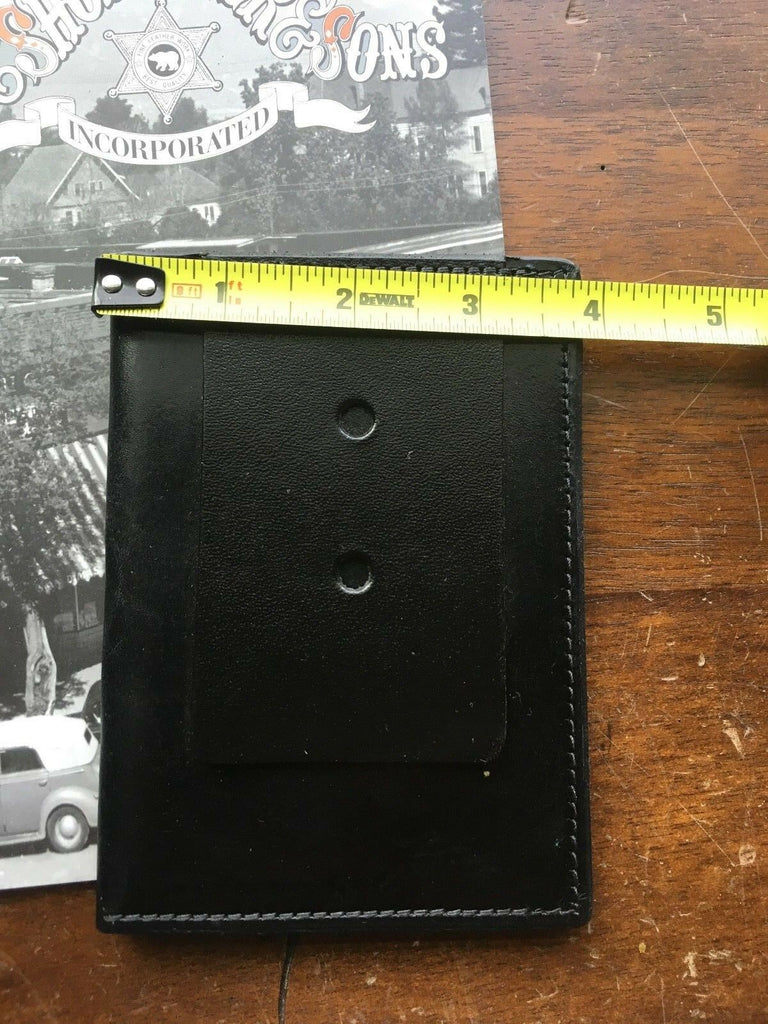 Tex Shoemaker Government DEA FBI ATF INS Agent Black Leather Wallet ID Badge
