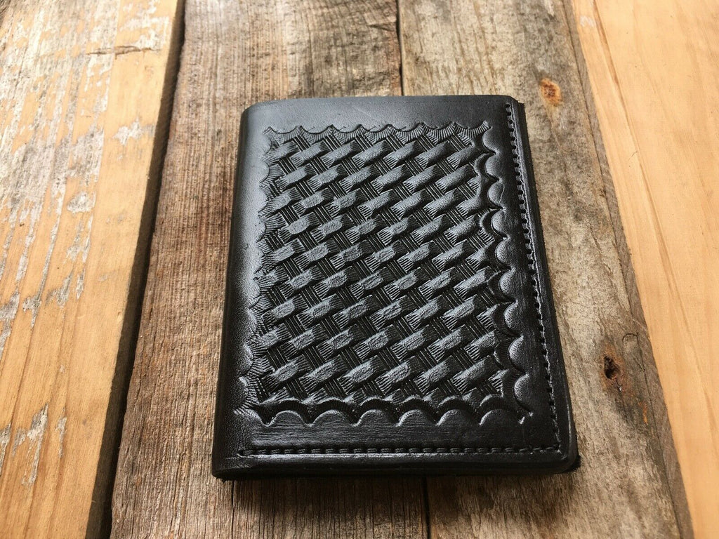 Tex Shoemaker CBP INS Type Police Shield Badge ID Wallet Black Leather 3 Types